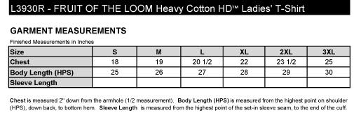 Ladies Garment Measurements