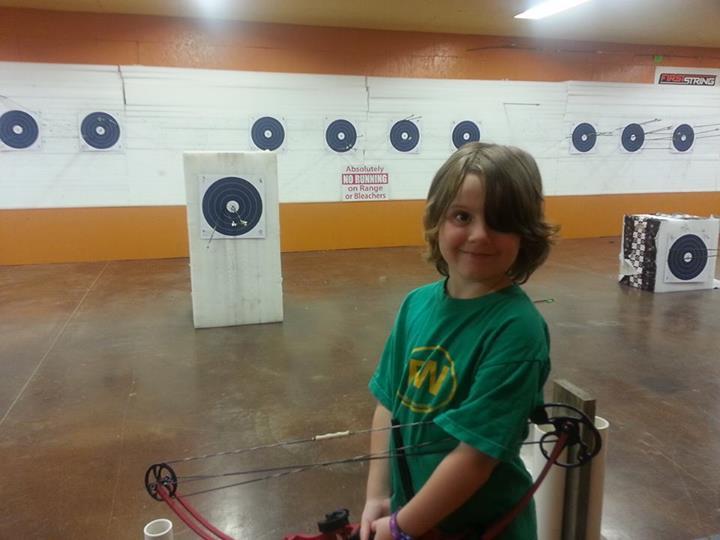 Alanna at archery class